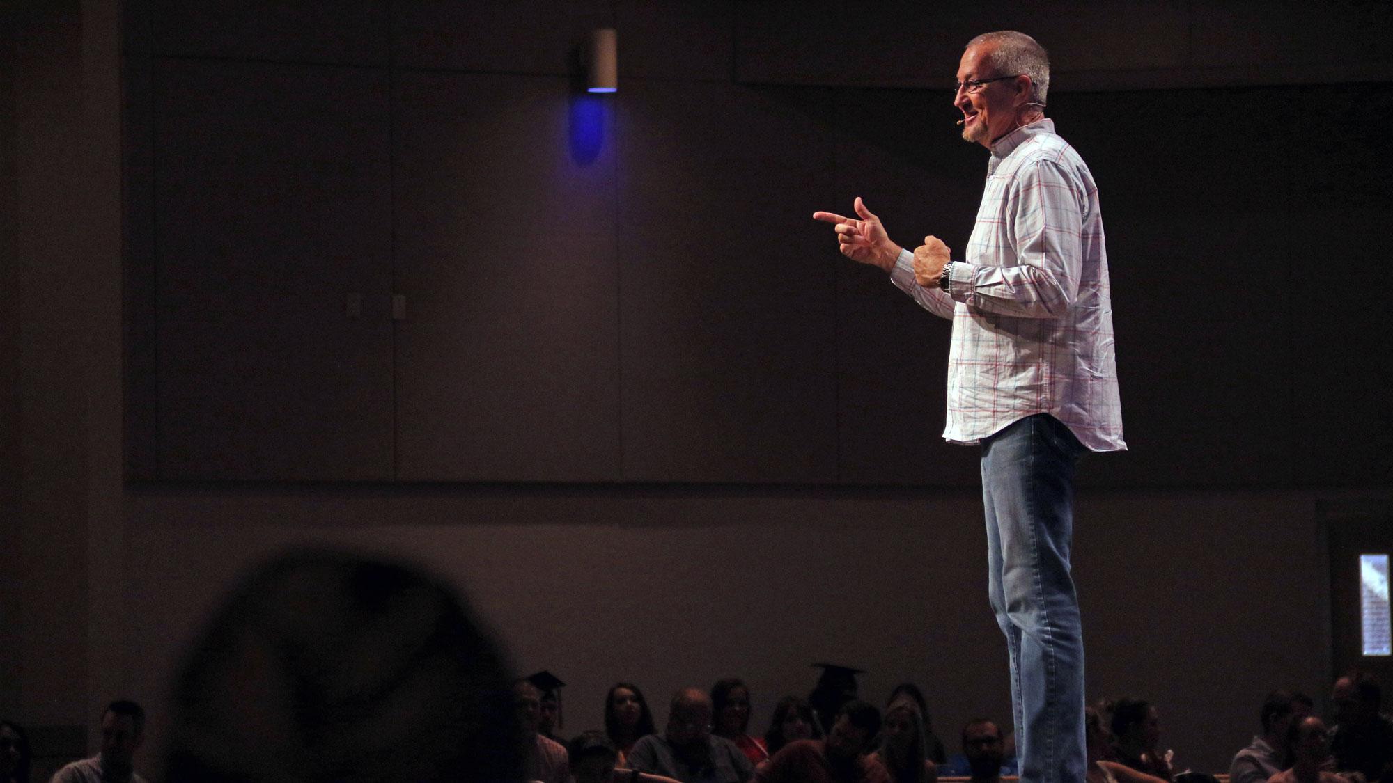 Pastor Gary Preaching